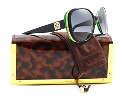 Tory Burch Sunglasses Black/Yellow/Green Grey Gradient