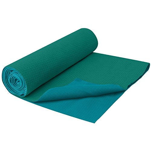 Gaiam No-Slip Yoga Towel, Turquoise Sea