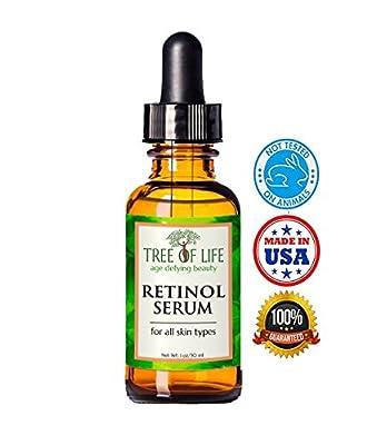 ToLB Retinol Serum - 72% ORGANIC - Clinical Strength Retinol Serum Face Moisturizer Cream for Anti Aging, Anti Wrinkle, Acne - Organic and Natural Ingredients