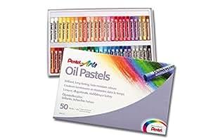 Pentel Pastels à l'huile Boîte de 50 couleurs