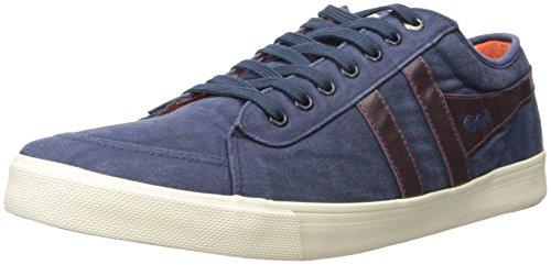 Gola Men's Comet Fashion Sneaker,Navy/Burgundy/Orange,12 M US
