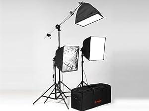 Studioset Fotostudio m. Studioleuchte Stativ Softbox