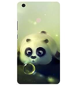 Chiraiyaa Designer Printed Premium Back Cover Case for Xiaomi Mi Max (teddy bear bubble cute) (Multicolor)