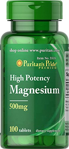 Puritan'S Pride Magnesium 500 Mg-100 Tablets