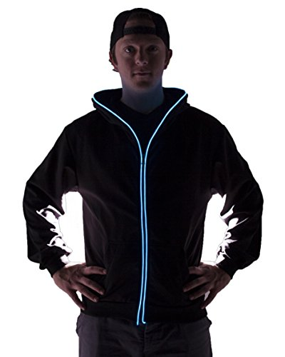Light Up Hoodies (Large, Blue)