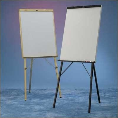 DR Series Black Epoxy with Powdercoat Whiteboard Easel