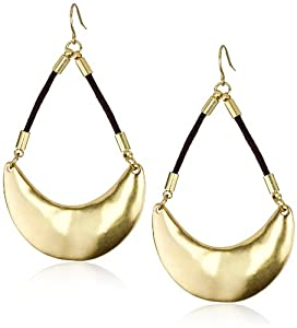 "Kenneth Cole New York ""Urban Patina"" Gold Half Moon Orbital Earrings"