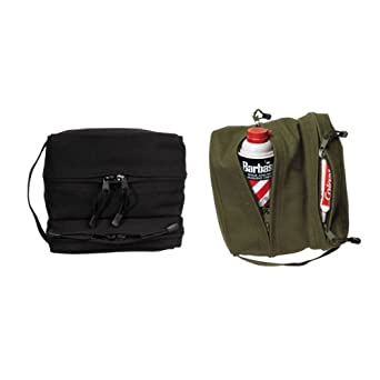 Dual Compartment Travel Kit Bag Black