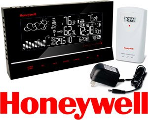 Honeywell Weather Forecaster with Heat Index TE657W, Weather Station, Atomic Clock, Indoor/Outdoor Temperature, Humidity & Barometer