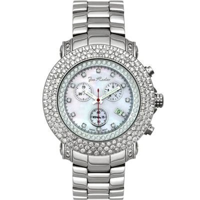 Iced Out Watches Joe Rodeo Diamond Watch 6ct White Mop