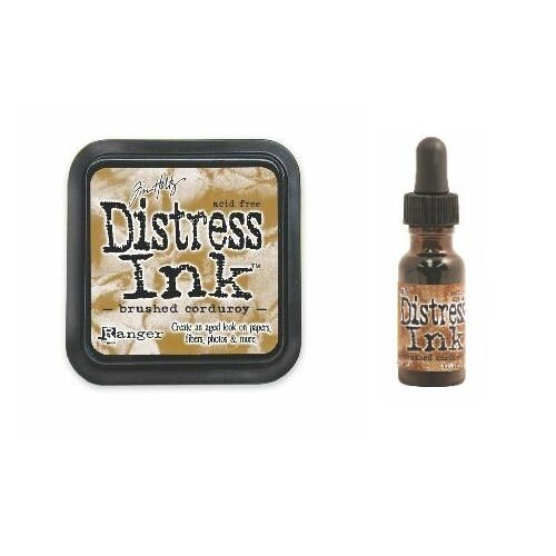 Tim Holtz Distress Rubber Stamp Ink Pad & Re-inker Brushed Corduroy