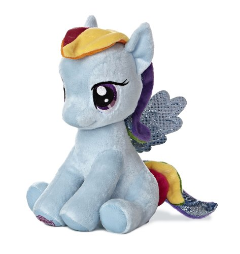 "Aurora World My Little Pony Seated Rainbow Dash Pony Plush, 10"" - 1"