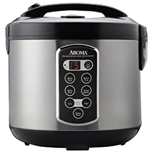 Aroma Professional 20-Cup (Cooked) (10-Cup UNCOOKED) Digital Rice Cooker, Food Steamer & Slow Cooker (ARC-2000ASB)