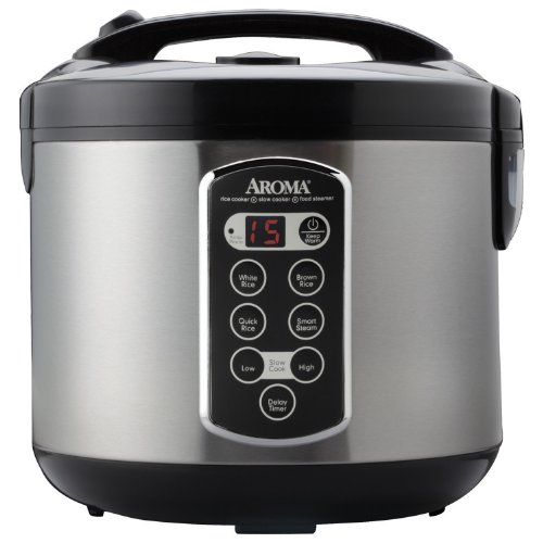 Aroma Housewares ARC-2000ASB Professional 20-Cup (Cooked) Digital Rice Cooker (Rice Cooker Aroma Pot compare prices)