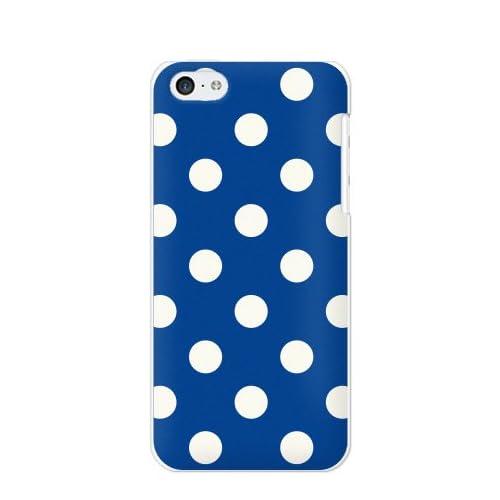 docomo/au/SoftBank iPhone5c用 ケース/カバー/ジャケット ポップ【ドット柄 大(青/白)】UA03F0033