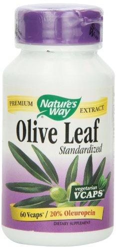Nature's Way Olive Leaf 20% Oleuropein, 60 Vcaps (Natures Way Olive Leaf Extract 20 compare prices)