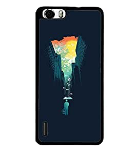 Fuson Premium 2D Back Case Cover Designed sky With Multi Background Degined For Huawei Honor 6 Plus