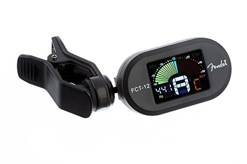 Fender Clip-On Tuner FCT-12 for Guitar, Ukulele, Bass, Violin, Mandonlin, and Banjo (Tuners Fender compare prices)