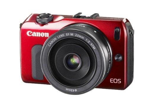 Canon ミラーレス一眼カメラ EOS M レンズキット EF-M22mm F2 STM付属 レッド EOSMRE-22STMLK