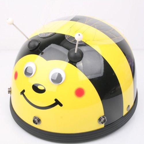 Bikman Women'S Motorcycle Motor Helmet Electric Cars Safety Bike Summer Helmet Harley Helmets Little Bee (With Hat Brim)