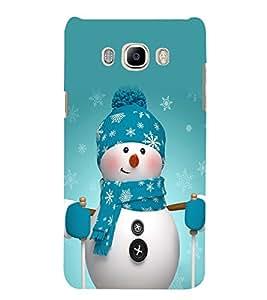 Snowman 3D Hard Polycarbonate Designer Back Case Cover for Samsung Galaxy J7 (6) 2016 Edition :: Samsung Galaxy J7 (2016) Duos :: Samsung Galaxy J7 2016 J710F J710FN J710M J710H