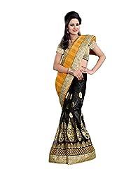 Radhe Krishna Creation Women's Net saree(RKC07,PeachPuff)
