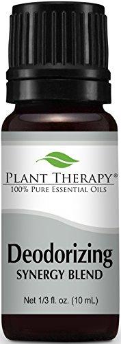 Deodorizing Synergy Essential Oil 10 ml (1/3 oz). 100% Pure, Undiluted, Therapeutic Grade (Blend of: Palmarosa, Lemon, Patchouli, Coriander, Pink Grapefruit, Cypress, Bergamot, and Tea Tree)