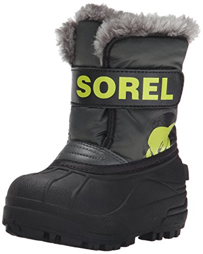 Sorel  CHILDRENS SNOW COMMANDER,  Stivali ragazza Grigio Gris (grill, Fission 028) 28 EU