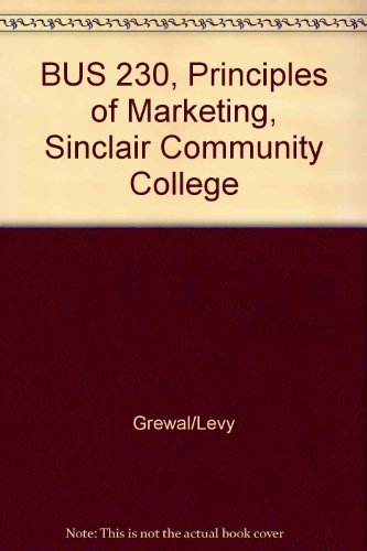 BUS 230, Principles of Marketing, Sinclair Community College