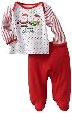 Absorba Baby Two Piece Footed Pant Set, Holiday, 3-6 Months