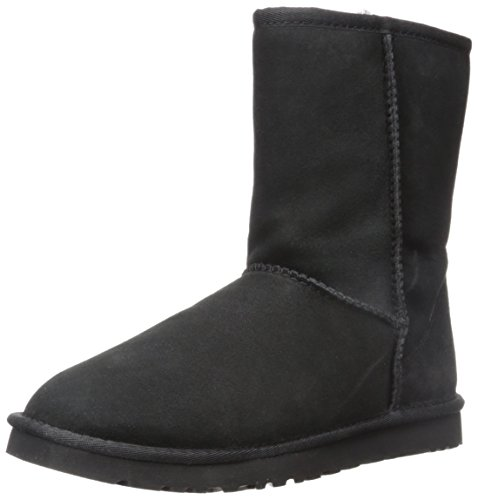 UGG Australia Women's Classic Short Sheepskin Fashion Boot Black 7 M US (Ugg Classic Tall Boots compare prices)