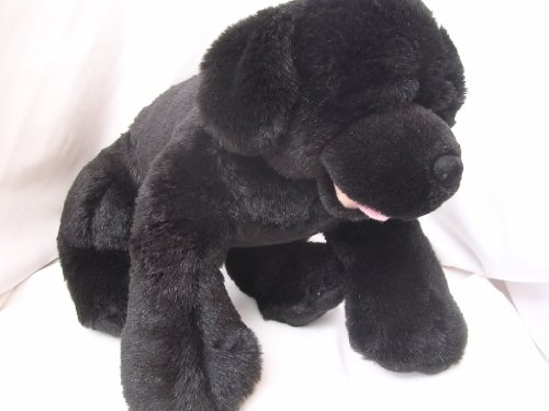"Dog Black Lab Puppy 15"" Plush Toy Collectible - 1"