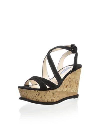 Prada Women's Wedge Cork Sandal