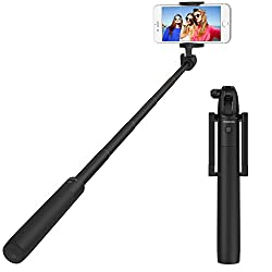 MoKo Selfie Stick, Self-portrait Monopod Extendable Wireless Bluetooth with Built-in Remote Shutter Camera Handheld Stick with Adjustable Phone Holder for iPhone 6s / 6s Plus, Galaxy Note 5, GOLDEN