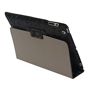 iPad 2 Marble Style Reversal Folding Slim Folio Case Black