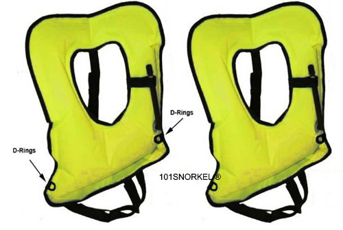 2 Pack Yellow XL Snorkel or Snorkeling Vest (Crafted in the Usa) -101SNORKEL®