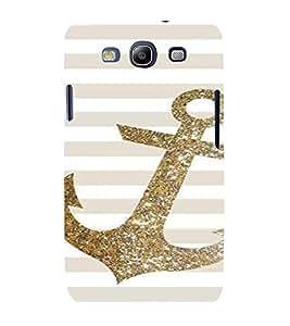 PrintVisa Golden Glitter Anchor 3D Hard Polycarbonate Designer Back Case Cover for Samsung Galaxy S3