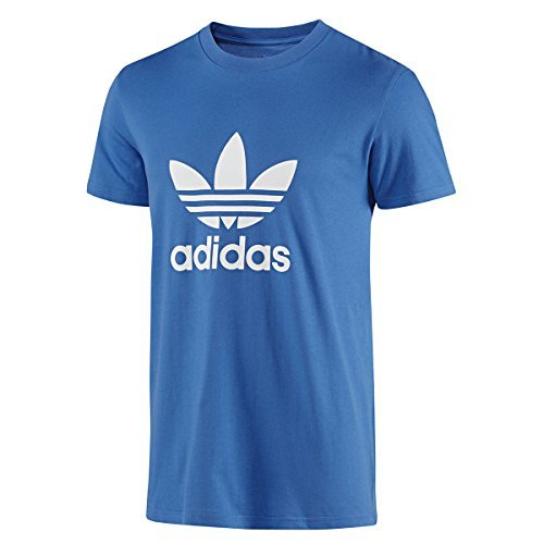 Adidas Originals Trefoil Da Uomo Girocollo T-Shirt Royal Taglia L