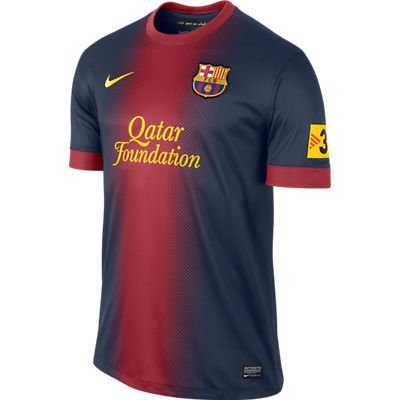 Soccer Nike Barcelona FC 2012/13 Home Soccer Jersey - Red/Navy Blue (Medium)