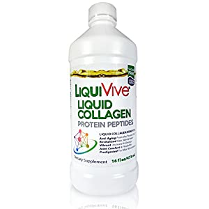 LiquiVive Collagen Liquid Protein Supplement. The Ultimate Hair, Skin & Nails Supplement. This Pure Super Collagen Hydrolysate May Support Knee and Lower Back Pain Relief. An Effective Stop Hair Loss and Hair Growth Product. Better Than Pills, Powder and