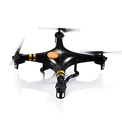 GPTOYS F2 Black Aviax 6-Axis 2.4GHz Quadcopter Remote Contral Drone with 3D Flip / Cruise Control / Fixed Altitude Shooting / Headless Mode by General's