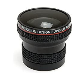 Precision Design 0.25X Super AF Fish Eye Lens for Film & Digital SLR Lenses by Canon EOS, Minolta Maxxum, Nikon AF, Pentax AF, Sigma, Sony Alpha & Tamron