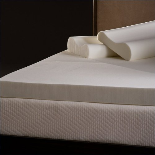 Great Features Of Comfort Magic 4-inch Memory Foam Mattress Topper with Contour Pillows - California...