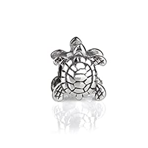 Bling Jewelry .925 Sterling Silver Sea Turtle Nautical Animal Bead Pandora Charm Compatible