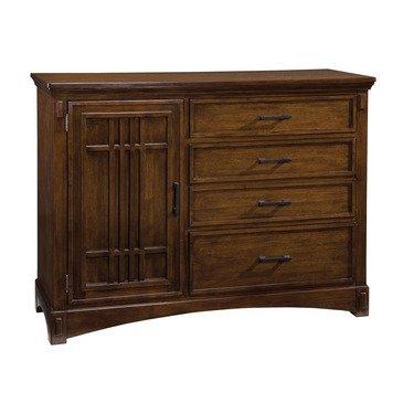 Standard Furniture Artisan Loft 4 Drawer 1 Door Chesser in Warm Medium Oak