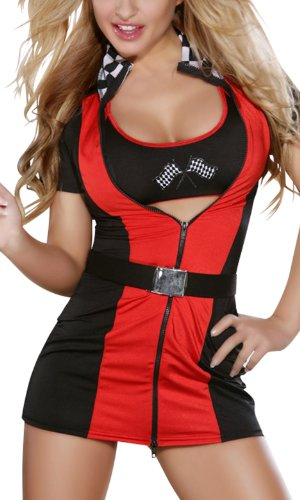 r-dessous Boxenluder F 1 Formel 1 Kleid Grid Girl Rennfahrerin Kostüm Karneval Motto Party Fasching