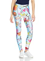 Mr. Gugu & Miss Go Leggings Comics (Azul Claro / Multicolor)