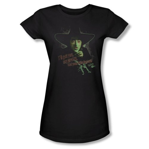 Warner Bros. Women's Wizard of Oz Wicked Witch Fitted T-Shirt Large Black