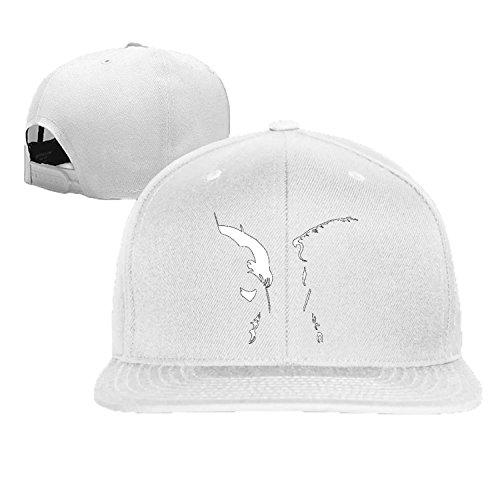 baseball cap hip hop hat Bat V Super cartoon charachter hat White (5 colors) (Cartoon Charachters)