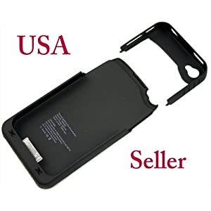 Neotek Iphone 4 4g External Battery Charger Case Power Juice Pack Air Ultra Slim+Bonus Mini Cube Wall USB Charger for iPhone, iTouch By Coolshop